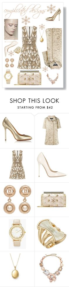 """complicated design"" by morag667 ❤ liked on Polyvore featuring FRIDA, Charlotte Olympia, Faith Connexion, Alice + Olivia, Jimmy Choo, Chanel, Oscar de la Renta, Chico's, Robert Lee Morris and Bloomingdale's"
