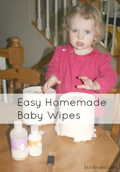 How to Make your own baby wipes