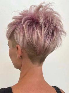 Best Undercut Short Pixie Haircut Styles to Show Off in 2020 Messy Pixie Haircut, Pixie Haircut Styles, Short Sassy Haircuts, Cool Short Hairstyles, Short Hair Styles Easy, Pixie Hairstyles, Short Hair Cuts, Curly Hair Styles, Edgy Short Hair