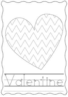 Valentine Big Shape Tracing Page $