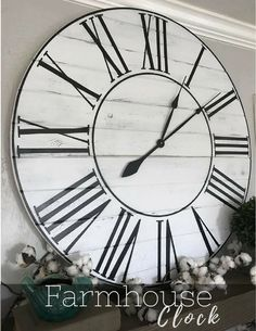 Big, oversized farmhouse wall clock. This would look perfect with any rustic decor! #farmhouse #rustic #ad