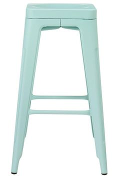 "Why didn't I know about HDC's ""Garden Backless Bar Stool"" when I was looking for light blue stools for my kitchen? Diy Kitchen Storage, Home Decor Kitchen, Kitchen Interior, Home Bar Furniture, Beach Furniture, Kitchen Counter Stools, Kitchen Island, Backless Bar Stools, Cool Bar Stools"