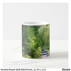 Serenity Prayer (Left Side) Forest Light Trees Coffee Mug Forest Light, Personalized Chocolate, Get Well Gifts, Serenity Prayer, Summer Landscape, Tree Lighting, Nature Images, Gifts For Friends, Photo Mugs