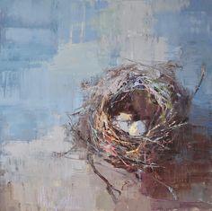 Bird Nest Craft, Bird Nests, Watercolor Portraits, Watercolor Art, Smart Art, Abstract Canvas Art, Art World, Altered Art, Illustration Art