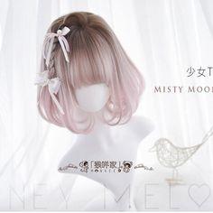 少女TーMisty Moonlightー Kawaii Hairstyles, Pretty Hairstyles, Wig Hairstyles, Teenage Hairstyles, Manga Hair, Anime Hair, Kawaii Wigs, Lolita Hair, Anime Wigs