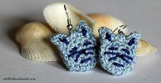 Purr Purr Earrings - free crochet pattern for cat lovers by Małgorzata Machowska