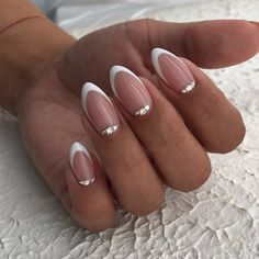 French Tip Acrylic Nails, Acrylic Nails Stiletto, Fall Acrylic Nails, French Nails, Nail Art Designs Videos, Cute Nail Art Designs, Cute Nails, My Nails, Short Almond Nails