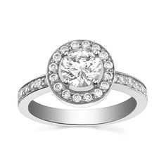 Engagement Ring with Side Stone 1/3 CT. T.W