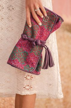 The MARIA'S Bow Clutch is the perfect date for Atena's party!