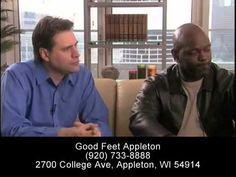 \n        Helps Plantar Fasciitis Relief - Foot Pain Heel Pain Arch Pain Back Pain Relief - Good Feet Appleton\n      - YouTube\n