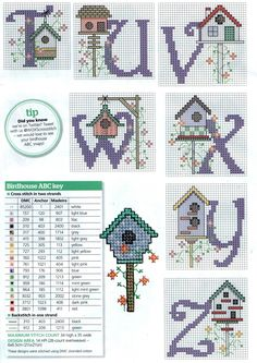 Cross-stitch Birdhouses part 3