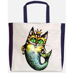 cat mermaid cutout, Mermaid Cat Transfer,cat tote, Mermaid Tote, Cat Mermaid Tote, mermaid transfer, cat transfer, MERMAID PRINCESS TRANSFER by DigitalArtMovement on Etsy