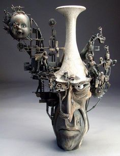 Grafton Pottery By Mitchell Grafton #Sculpture #Steampunk