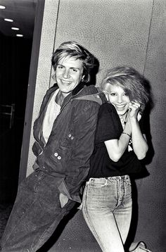 Simon LeBon of Duran Duran and Dale Bozzio of Missing Persons