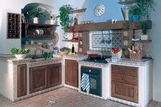 cucina muratura maioliche - Cerca con Google