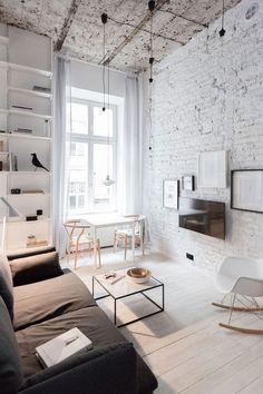Ничего лишнего: очаровательная квартира в Польше (35 кв. м) | Пуфик - блог о дизайне интерьера