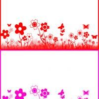 Give a like for this free printable flowered stationary!