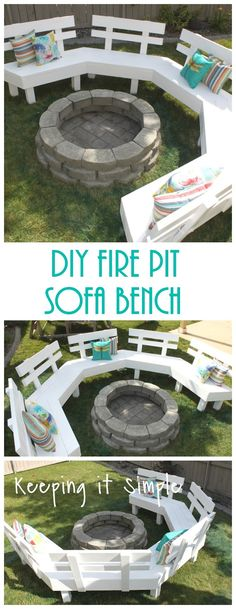 This post contains affiliate links. One year ago we built a fire pit in our back yard (it only cost $60 to do and it's one of my fa...