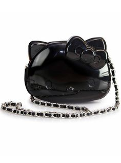 """Loungefly Loves Hello Kitty"" 3D Molded Crossbody Bag by Loungefly (Black)"