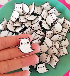 Ghost Cat Enamel Pin by emandsprout on Etsy. Omg.