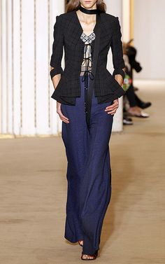 Hanover Puckered Check Jacket by ROLAND MOURET for Preorder on Moda Operandi