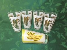 Gold Wheat Tumblers by WeBGlass on Etsy