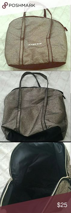 Victoria's Secret Sparkly Gold Tote. In great condition! VS sparkly gold tote. Victoria's Secret Bags Totes