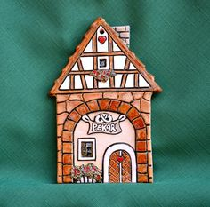 Pekař Clay Houses, Ceramic Houses, Ginger House, Air Dry Clay, Little Houses, Pottery, Bird, Holiday Decor, Outdoor Decor