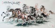 Сюй Бэйхун и его лошади.  Сюй Бэйхун был признанным мастером в таких традиционных жанрах китайской живописи, как «цветы и птицы», «люди», а также писал маслом и создавал монументальные полотна. Но прежде всего он известен картинами своих лошадей. Галопирующие, стоящие, пьющие, пасущиеся, идущие, лежащие и т.п.