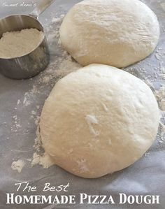 perfect restaurant-quality homemade pizza dough | Page 2 of 2 | Sweet Anna's Homemade Pizza Crust Recipe, Best Pizza Dough Recipe, Best Homemade Pizza, Pizza Dough Recipe All Purpose Flour, Dough Pizza, Bagel Recipe, Pizza Pizza, Pizza Recipes, Cooking Recipes