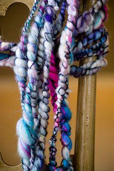 Loopy Love  Handspun Art Yarn  Merino Wool by sweetredemption,