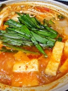 「お家で簡単♪チゲ鍋」調味料の比率はお好みで♪辛いのが好きな人は粉唐辛子を増やしても(*^_^*)【楽天レシピ】