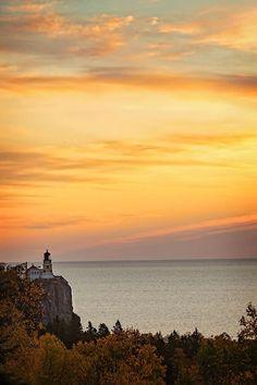 Sunrise over Split Rock Lighthouse Minnesota. - http://ift.tt/1HQJd81