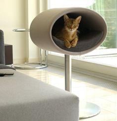 Couchage Lit pour chat RONDO STAND - Feutre Gris