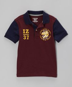Look at this #zulilyfind! IZOD Port & Navy 'IZ 37' Polo - Boys by IZOD #zulilyfinds