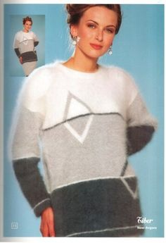 модели вязаной одежды, мохер