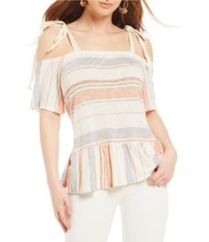 Shop for Copper Key Tie Shoulder Stripe Top at Dillards.com. Visit Dillards.com to find clothing, accessories, shoes, cosmetics & more. The Style of Your Life.