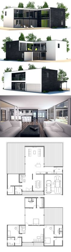 Container House - Instead of having an upstairs I could make the garage into a master bedroom. It would definitely be more wheelchair friendly Who Else Wants Simple Step-By-Step Plans To Design And Build A Container Home From Scratch? Building A Container Home, Container Buildings, Storage Container Homes, Container Architecture, Container House Design, Shipping Container Homes, Shipping Containers, Casas Containers, Future House