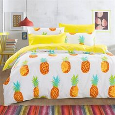 Cheap fruit zester, Buy Quality fruit service directly from China cotton australia Suppliers:  Dropshipping Pineapple Bedding Set Sweet Printed Fruit Bedsheet Soft 100% Cotton Duvet Cover Set 3pcs Twin Queen Size&n