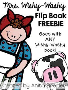 Wishy-Washy flip book that works with ANY Mrs. Wishy-Washy book in the series by Joy Cowley. Farm Activities, Kindergarten Activities, Preschool Farm, Therapy Activities, Farm Lessons, Farm Unit, Book Works, Emergent Readers, Author Studies