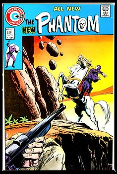 * September 1974 on the cover, August in the indicia. According to The Comic Reader #106, there were eleven Charlton comics intended for release in May 1974. Those with a newsstand date of May 7th, 14th, or 21st had August cover dates. Those with a newsstand date of May 23rd or 30th had September cover dates. Phantom #61 had a newsstand date of May 23rd.(GCD) Comics For Sale, Dc Comics, Comic Book Artists, Comic Books, Charlton Comics, The Spectre, Howard The Duck, Silver Age Comics, American Comics