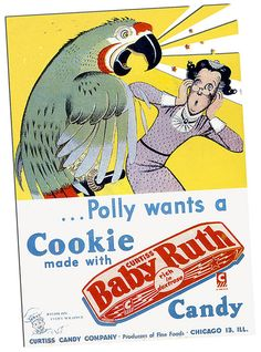 BABY RUTH AD FROM COMIC BOOK by Christian Montone, via Flickr