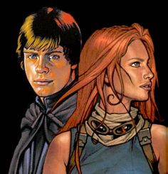 Mara Jade and Luke Skywalker Star Wars Jedi, Star Wars Art, Thrawn Trilogy, Mara Jade, Anthology Film, Han And Leia, Star Wars Drawings, The Expendables, Star Wars Collection