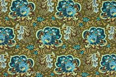 Amy Butler Fabric - Gothic Rose in Turquoise from Belle