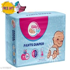 Others Kiddy soft pants diaper for baby - M size(36pc, baby socks as free gift) Product Name: Kiddysoft Pants Diapers Medium 36 Counts (Baby Socks - FREE) Brand Name: KiddySoft Type: Pads Multipack: 36 Pads Size: M Country of Origin: India Sizes Available: Free Size   Catalog Rating: ★4.3 (2051)  Catalog Name: Kid's Pants Diapers & Socks CatalogID_2066981 C84-SC1281 Code: 853-11113017-708