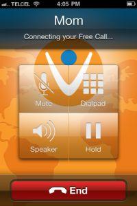 Free international calls via mobile phones.