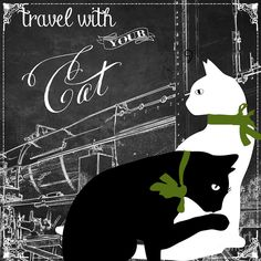 Cat Painting - Travel With Your Cat by Mindy Sommers