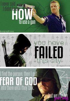 Oliver Queen's quotes <3 Arrow Tv Shows, Arrow Tv Series, Dc Tv Shows, Arrow Show, Arrow Funny, Arrow Memes, The Flash, Arrow Quote, Dc Comics
