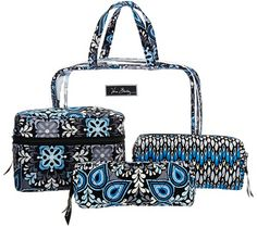 Take organization to a new, more stylish level with this four-piece cosmetic organizer in Vera Bradley's signature prints. One large, clear case holds three smaller cases all decked out in a design you'll love. Keep makeup, hair accessories, travel-sized products, and more in these cute cases and you're good to go! From Vera Bradley Handbags and Accessories. QVC.com