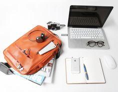 Leather Laptop Bag v2